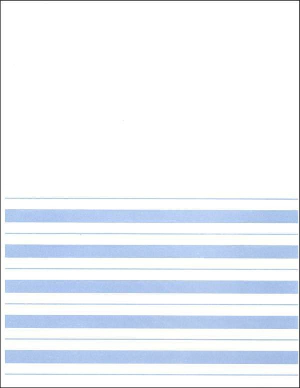 Primary Blank Top Writing Paper (light blue) (003500) Details ...