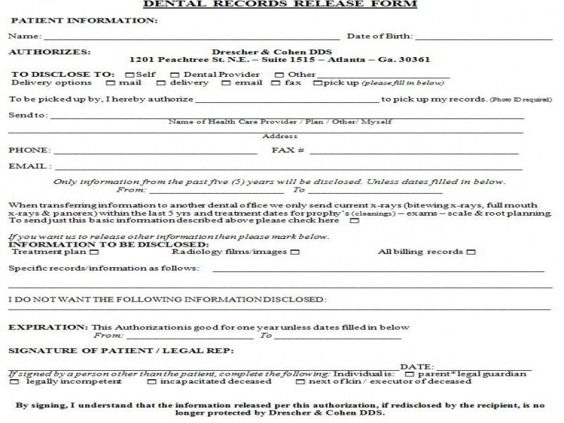 Records Release Form. Should I Be Concerned About A Release Of ...