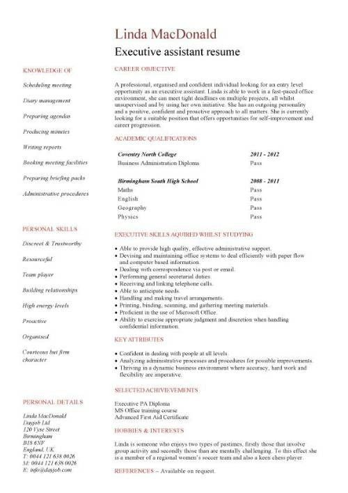 Cv Template No Work Experience Resume For College Student With No ...