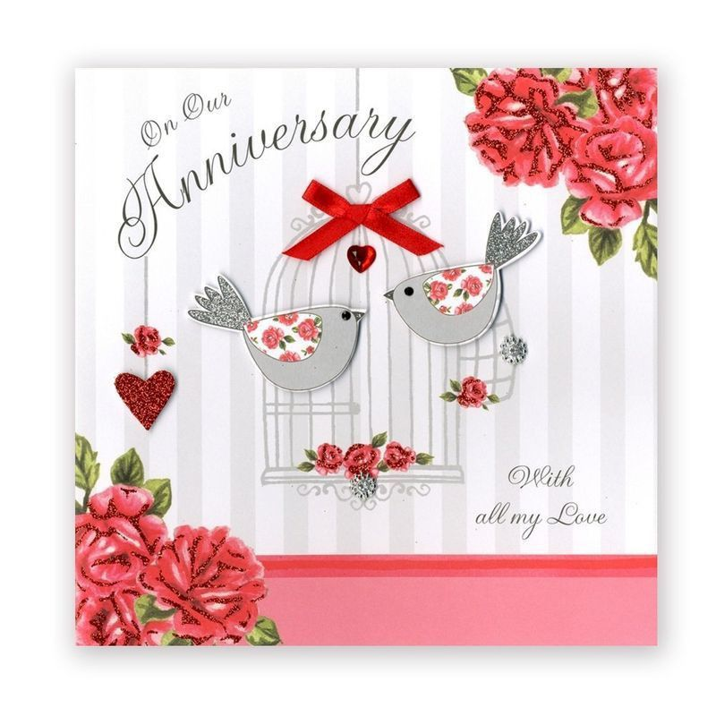 Hand Finished On Our Anniversary Card - Large, Luxury Card ...