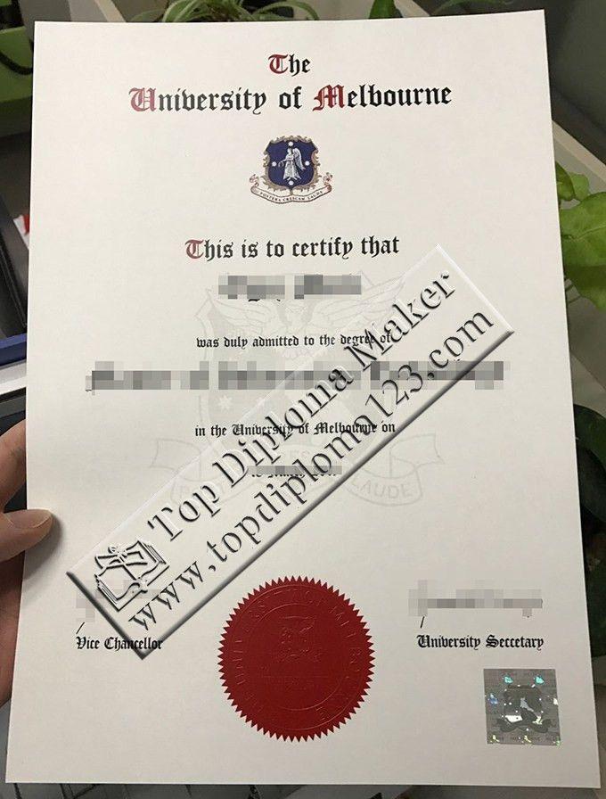 The university of Melbourne master degree certificate sample - Buy ...