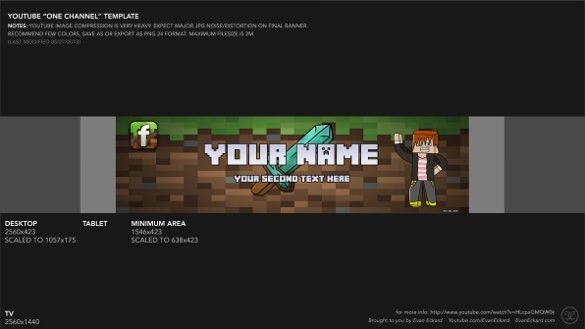 Free YouTube Banner Template – 9+ Free PSD, AI, Vector EPS ...