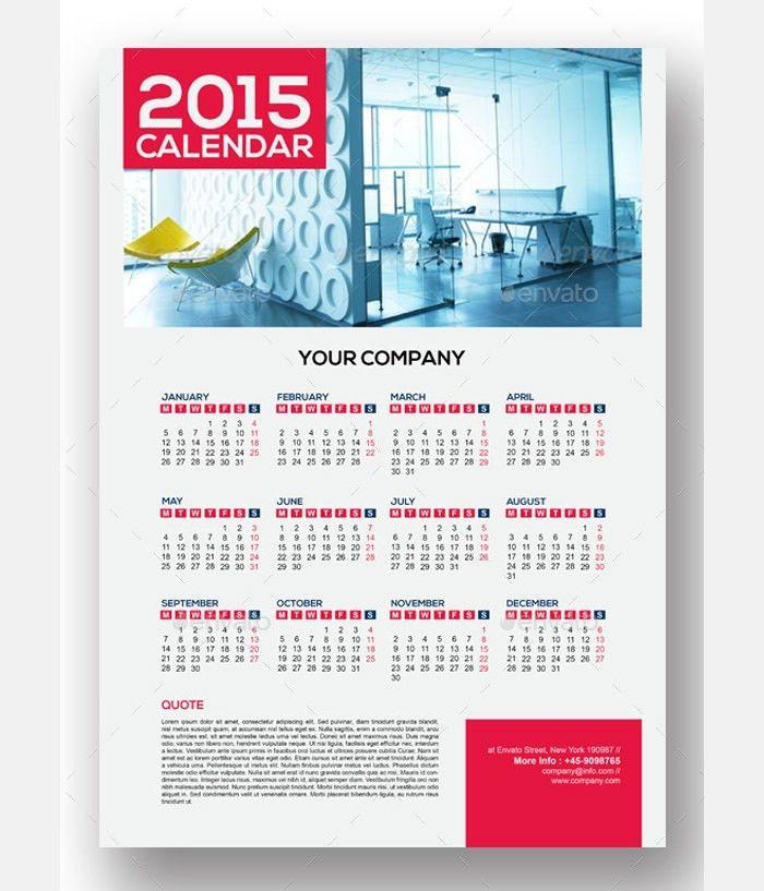 40+ Sample 2015 Calendar Templates & Designs Free   Free & Premium ...