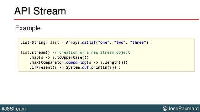 Java 8 Stream API and RxJava Comparison