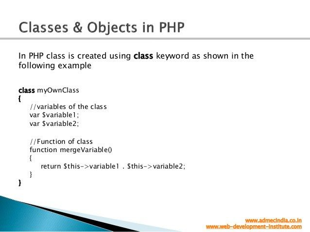 Object oreinted php   OOPs
