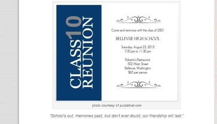 Class Reunion Invitations Templates – Namcr for Class Reunion ...