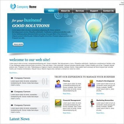 Clean business template free website templates for free download ...