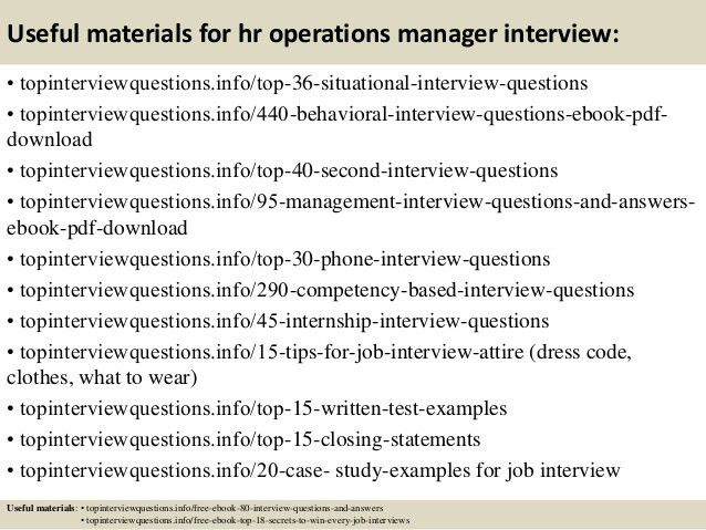 Top 10 hr operations manager interview questions and answers
