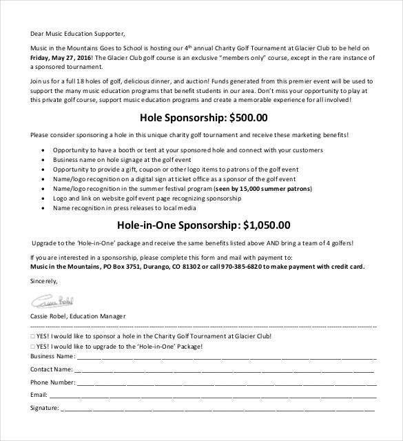 Sponsorship Letter Templates - 40+ Free Sample, Example Format ...