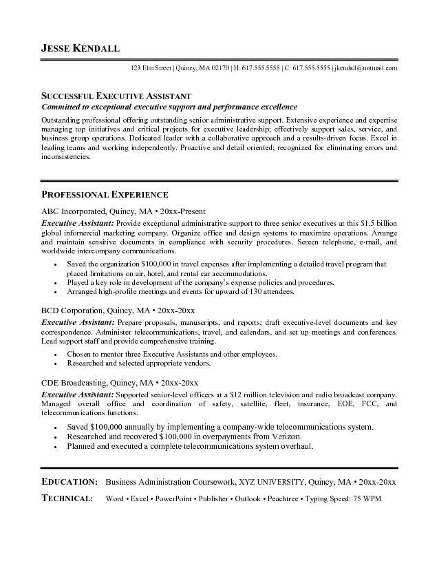 Administrative Assistant Objective Statement Examples | Template .
