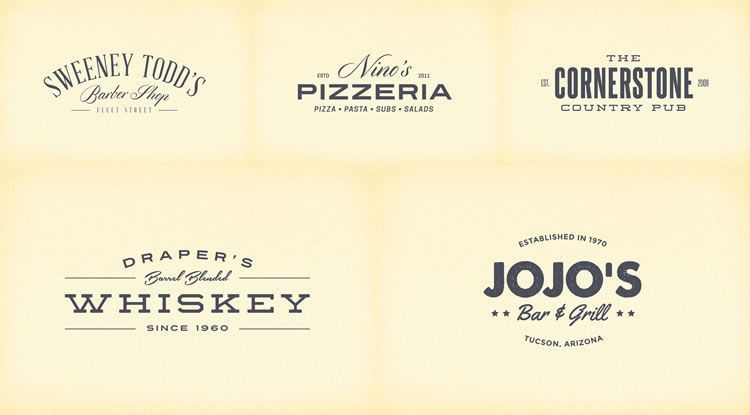 15 Free Vintage Logo Template Collections