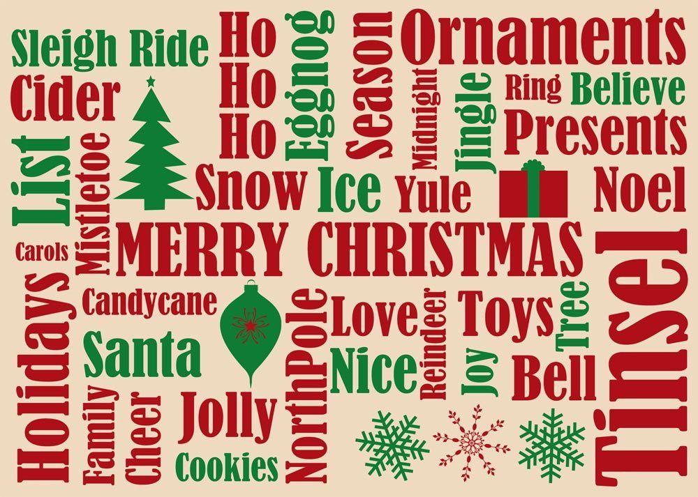 Christmas Keywords : Christmas Vocabulary Word List