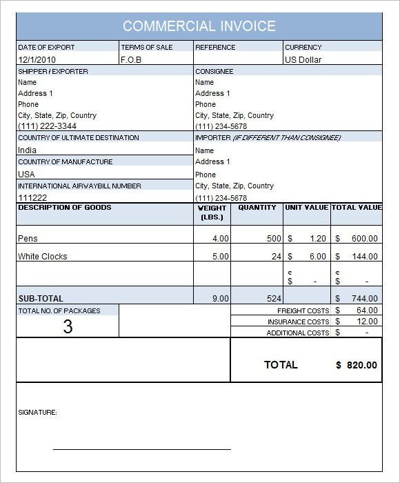 Download Us Commercial Invoice | rabitah.net