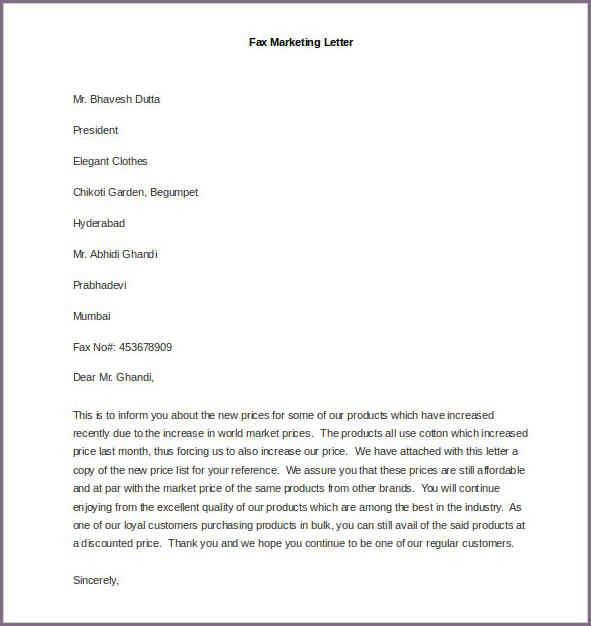 SAMPLE MARKETING PROPOSAL LETTER | proposalsampleletter.com