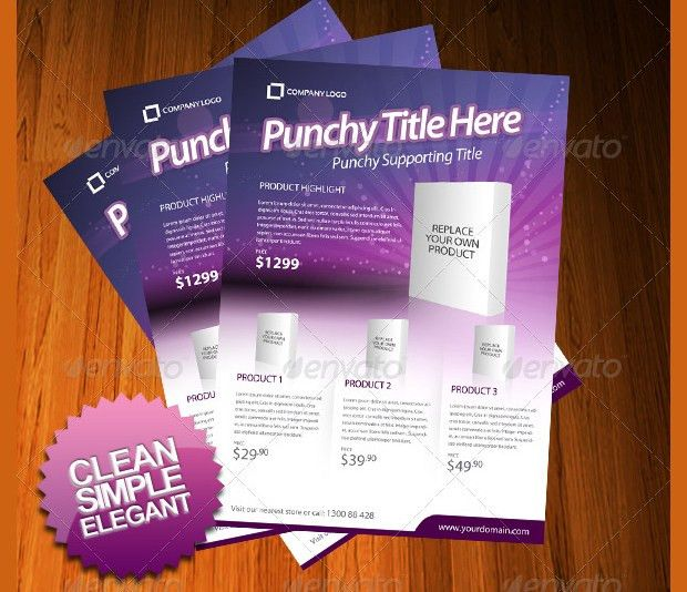 marketing flyer template. product products flyer ad editable ...