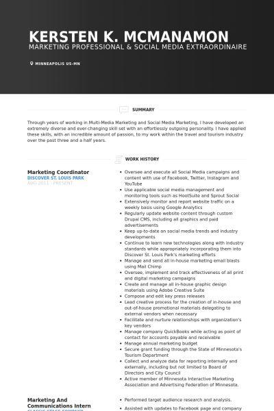 Coordinator Resume samples - VisualCV resume samples database