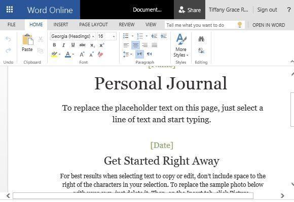 How To Make a Cloud Based Personal Journal in Word