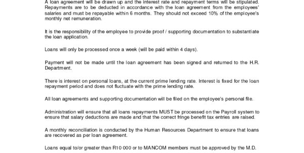 Employee Loan Agreement Format India Employee Loan Agreement Form ...