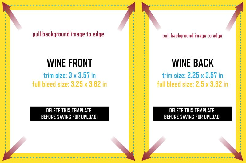 Front & Back (Wine) Label Template - GrogTag