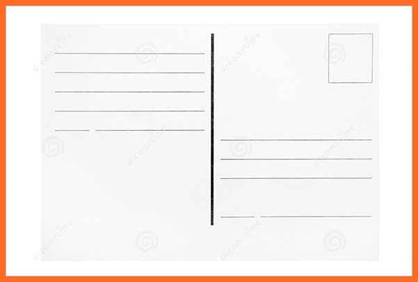 blank postcard template | soap format