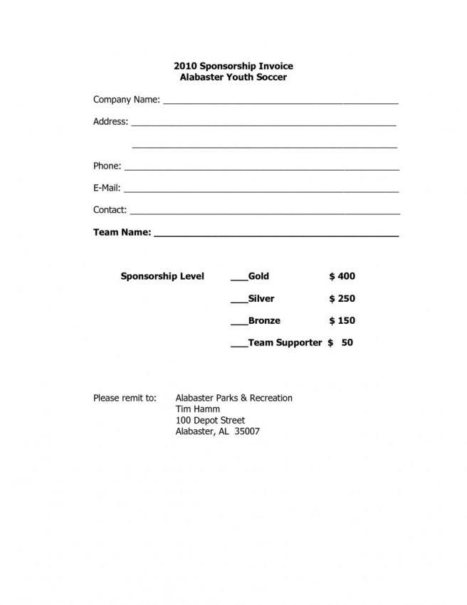 Sponsorship Invoice Template - Best Resume Collection