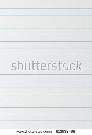 Notebook Paper Background Lined Paper Stock Vector 613538468 ...