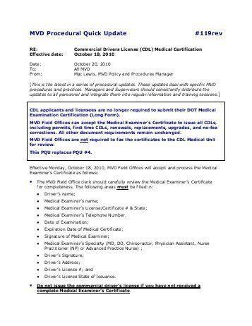 Cdl Medical Form. Dot Medical Form – Medical Form Templates Dot ...