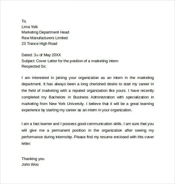 the covering letter including two internships inc an important ...