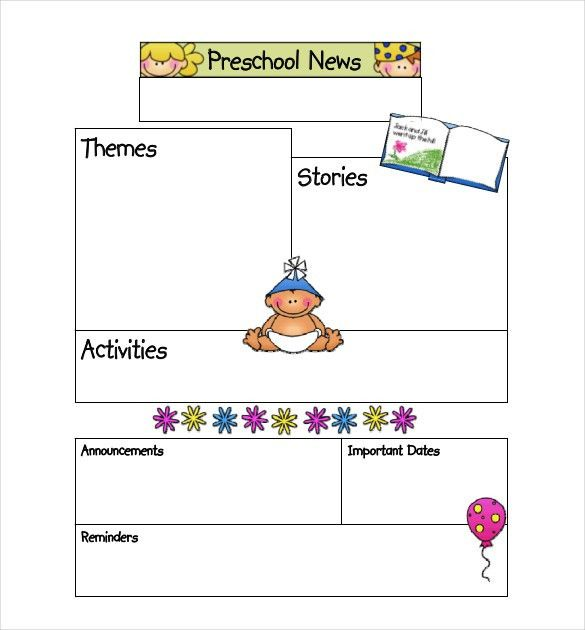 Preschool Newsletter Template- 9+ PSD, PDF Documents Download ...