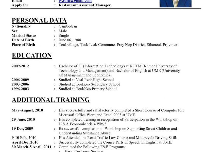 Example Of Perfect Resume. Perfect Resume Format Example Perfect . Photo Gallery