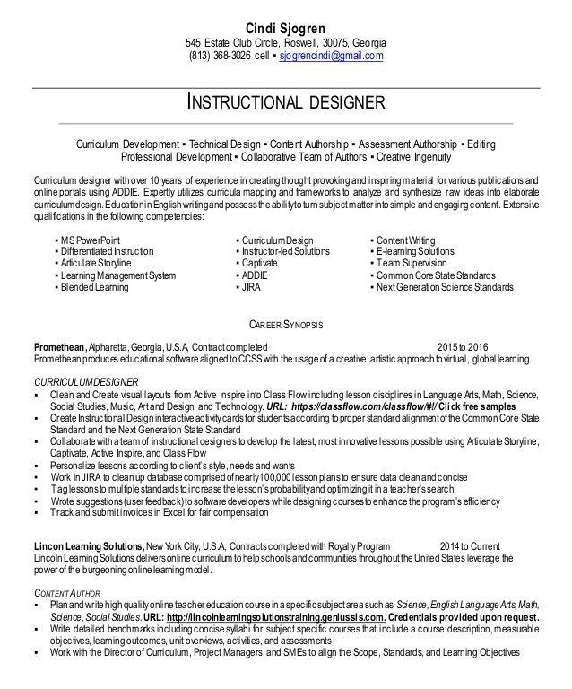 Instructional designer cover letter resume examples virtual