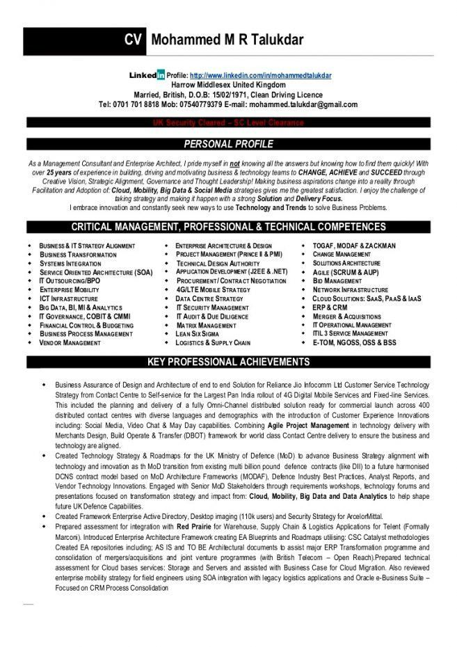 13 Sample Resume For Solution Architect Resume technical architect ...