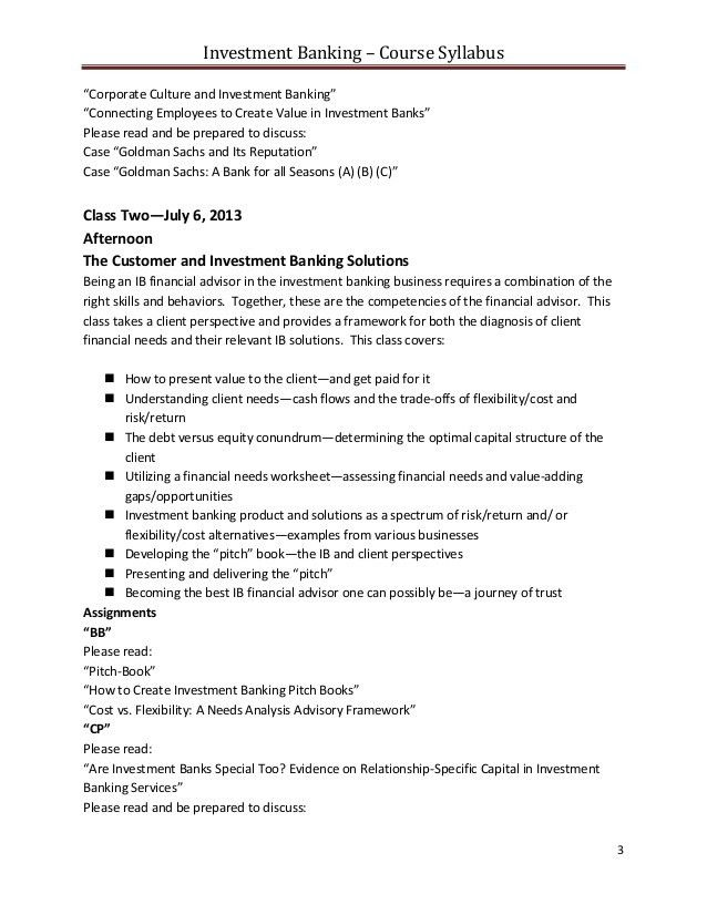 investment banking resume objective investment banking sample ...