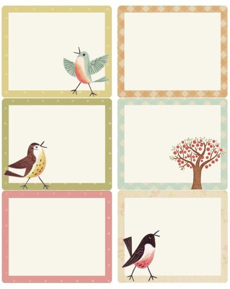 Sweet Birds address, shipping & round labels | Worldlabel Blog ...