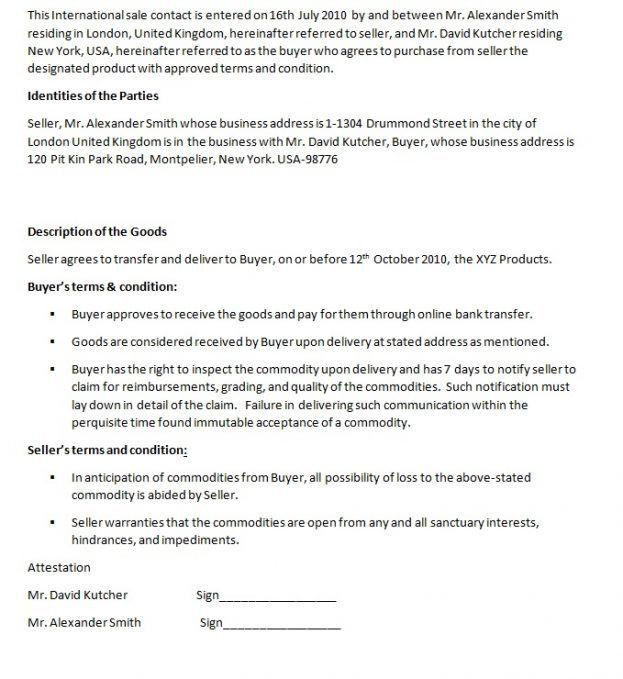 Business Contract Template Word : Business Contracts Templates ...