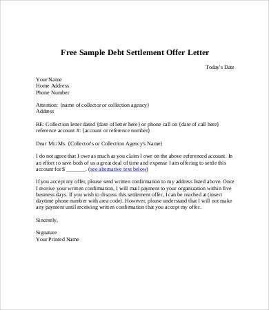 Debt Letter Template - 7+ Free Word, PDF Format Download | Free ...