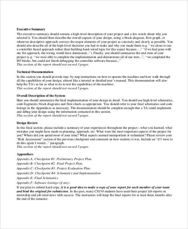7+ Project Summary Templates - Free Word, PDF Document Download ...