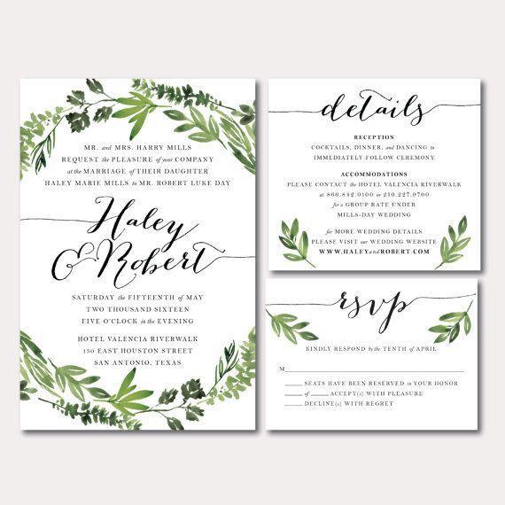 Best 25+ Wedding invitation format ideas on Pinterest   Wedding ...