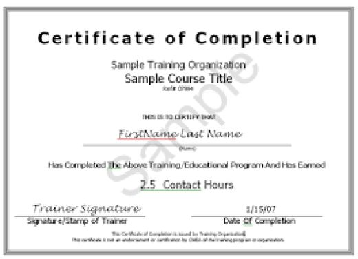 10+ Certificate of Completion Templates - Word Excel PDF Formats