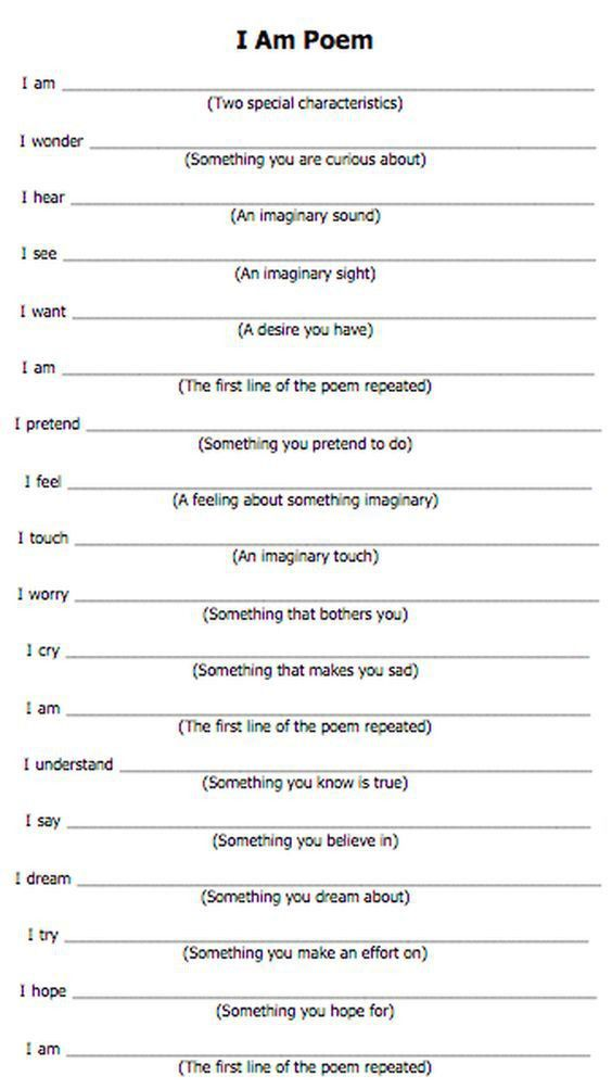 blog and provided you with feedback <b>i am poem template</b>   I ...