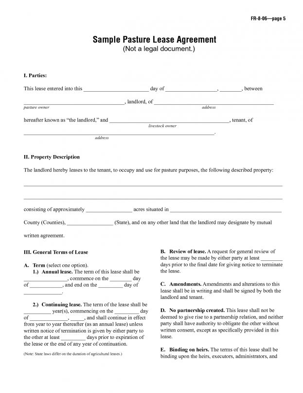 Free Printable Rental Agreement Forms Pet Application Garage ...