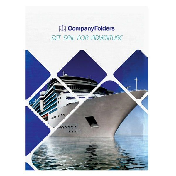 Cruise Ship Adventure Presentation Folder Template (Front View ...