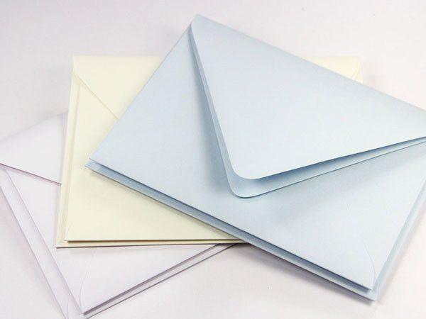 Pearl Lined Inner Outer Envelopes, Slim Radiant White - LCI Paper
