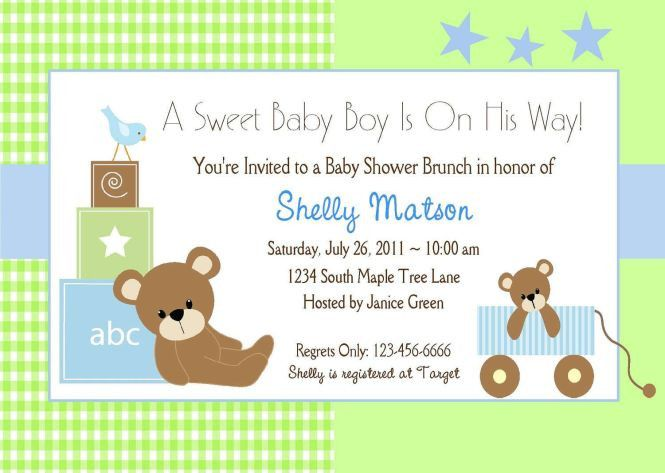 Sample Baby Shower Invite   PaperInvite