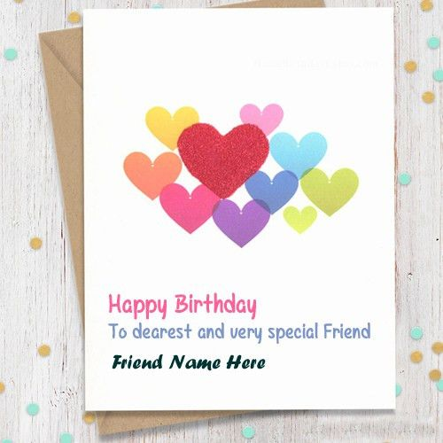 Sweets Birthday Wish Friend Name Greeting Card Pictures