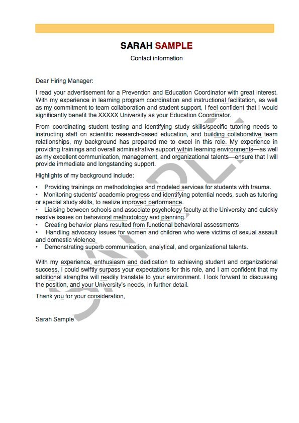 Professional Cover Letter Writing - Cover Letter Service | ResumeYard