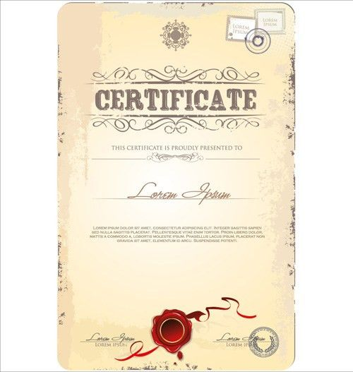 Cover of Certificate design template vector 03 - Vector Cover free ...