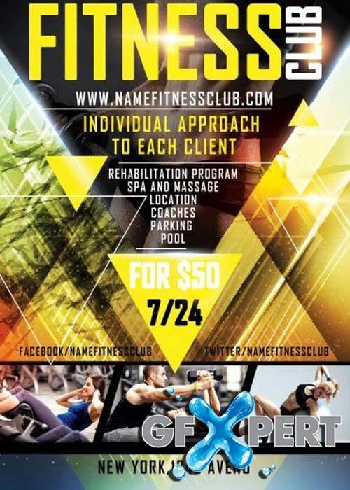 Free Fitness PSD Flyer Template download