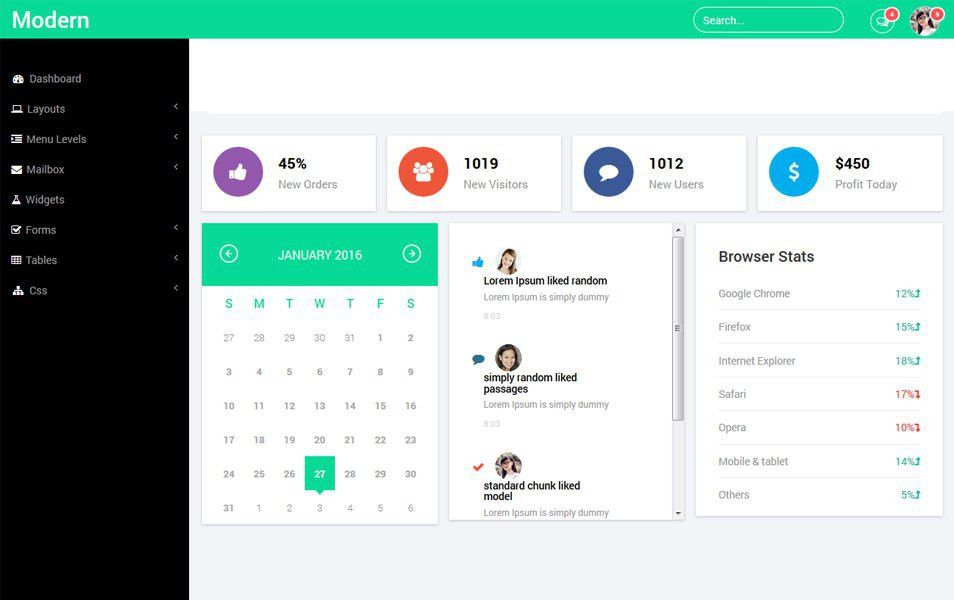 80+ Best Free Bootstrap Admin Templates 2017 For Web Applications ...