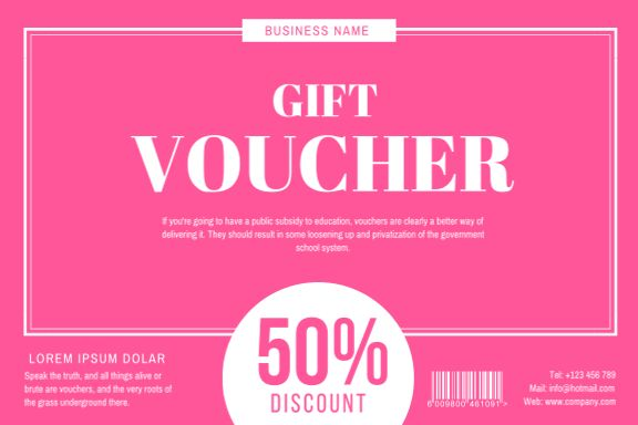 30+ Gift Voucher Designs - Create your own marketing materials online